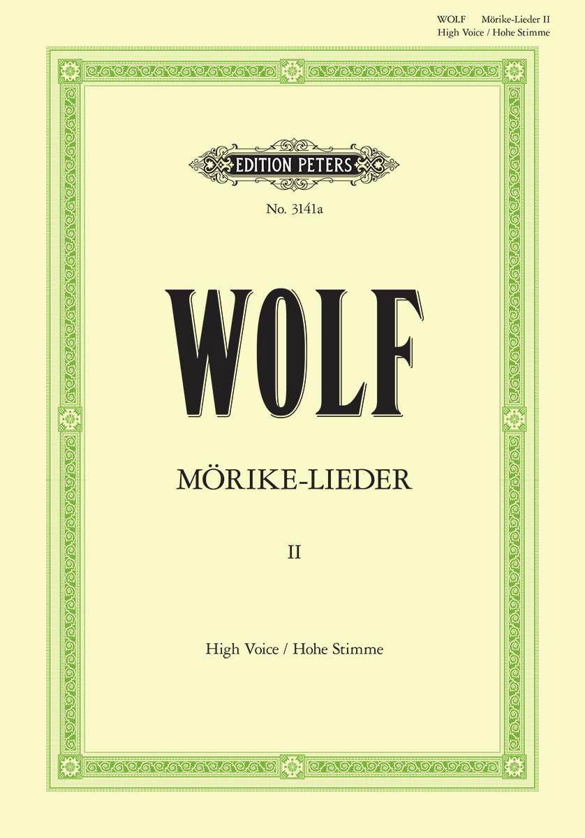 Mörike-Lieder Volume 2. Voix Haute - Hugo Wolf - laflutedepan.com