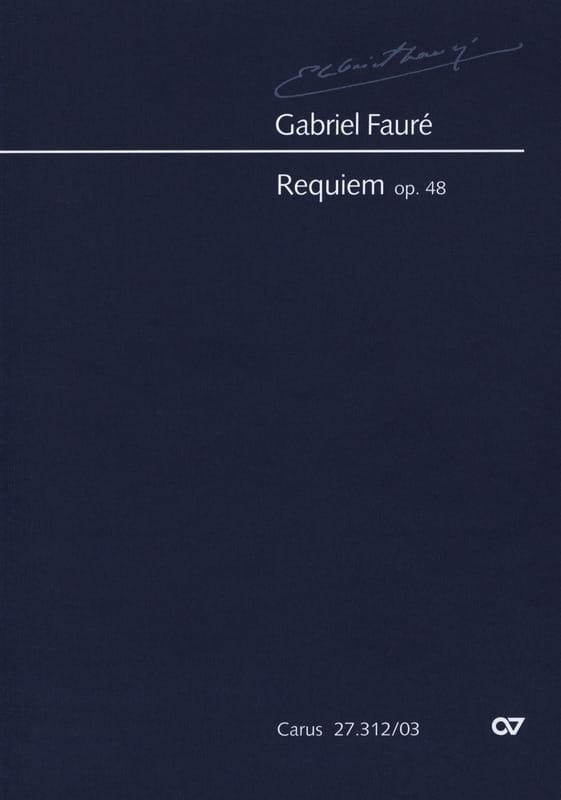 Requiem Opus 48 Version 1900 - FAURÉ - Partition - laflutedepan.com