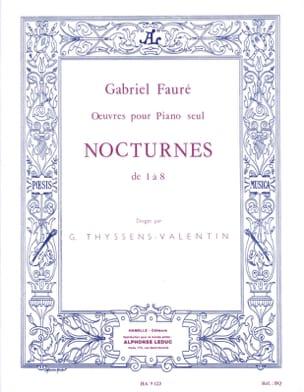 Nocturnes De 1 A 8 FAURÉ Partition Piano - laflutedepan