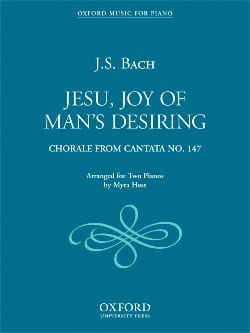 Jesu, Joy Of Man's Desiring. 2 Pianos. BACH Partition laflutedepan