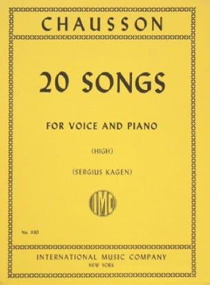 20 Songs. Voix Haute - CHAUSSON - Partition - laflutedepan.com