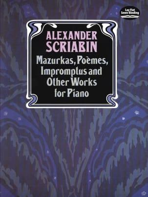 Mazurkas, Poèmes, Impromptus et Autres Pièces SCRIABINE laflutedepan