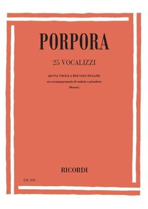 25 Vocalises Nicola Porpora Partition Pédagogie - laflutedepan
