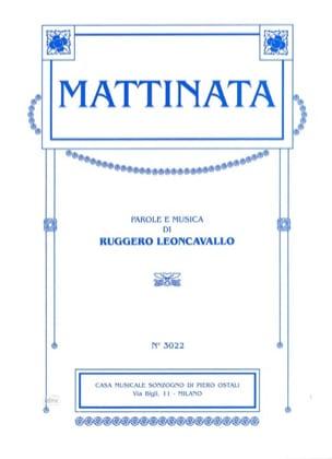 Mattinata (Voix Haute) - Ruggiero Leoncavallo - laflutedepan.com