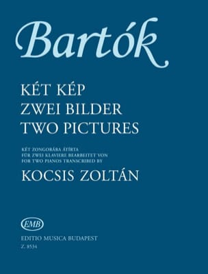 2 Pictures op.10 - 2 Pianos BARTOK Partition Piano - laflutedepan