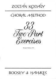 33 2-Part Exercices KODALY Livre Chœur - laflutedepan