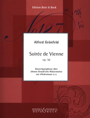 Soirée de Vienne op. 56, paraphrase de Johann Strauss laflutedepan