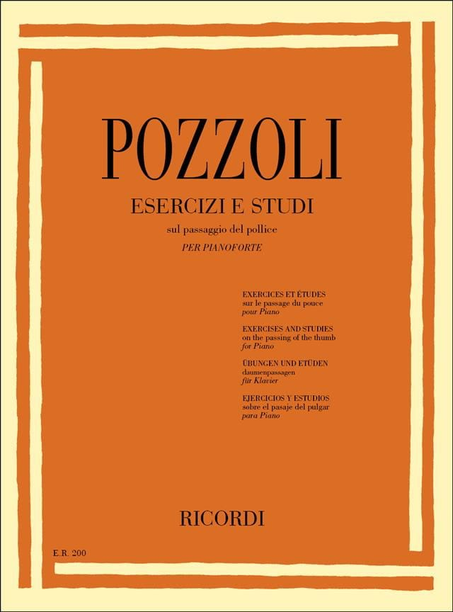 Exercices et Etudes - Pozzoli - Partition - Piano - laflutedepan.com