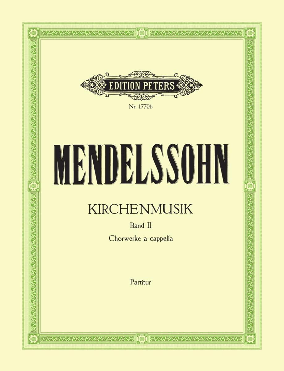 Kirchenmusik Volume 2 - MENDELSSOHN - Partition - laflutedepan.com