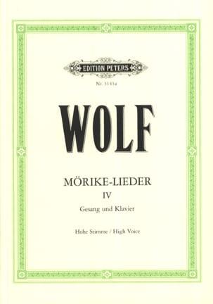 Mörike-Lieder 4. Voix Haute Hugo Wolf Partition laflutedepan