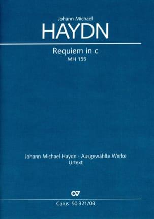 Requiem En Ut Mineur Mh 155 Michael HAYDN Partition laflutedepan