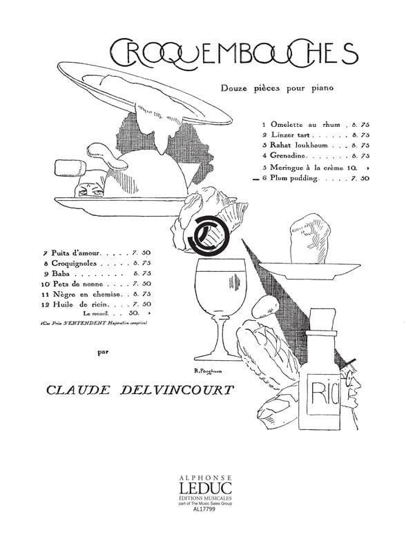 Plum Pudding - Claude Delvincourt - Partition - laflutedepan.com