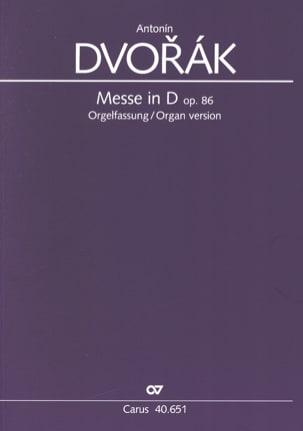 Messe En Ré Opus 86 Version Choeur et Orgue DVORAK laflutedepan
