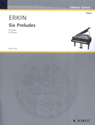 6 préludes - Ulvi Cemal Erkin - Partition - Piano - laflutedepan.com