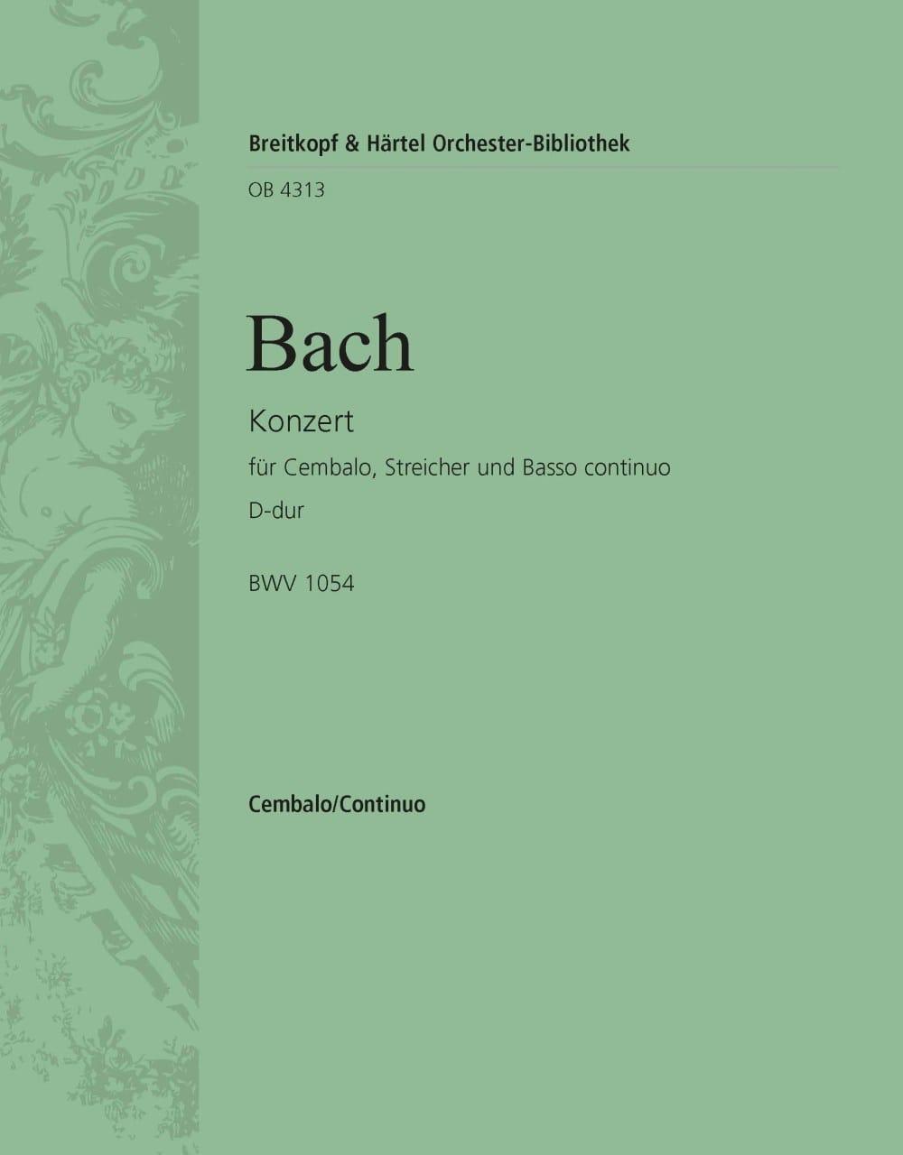 Concerto Pour Clavier En Ré Majeur BWV 1054. - BACH - laflutedepan.com