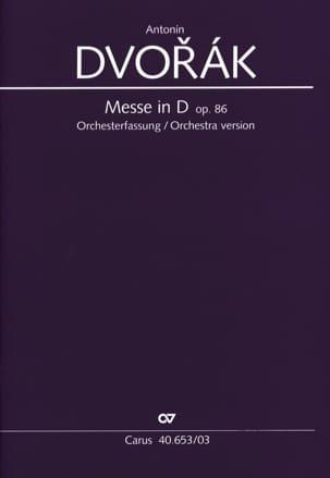 DVORAK - Mass In Re Opus 86 Orchestra Version - Partition - di-arezzo.co.uk