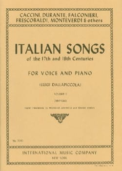 Italian Songs 17th And 18th Centuries Voix Moyenne Volume 1 - laflutedepan.com