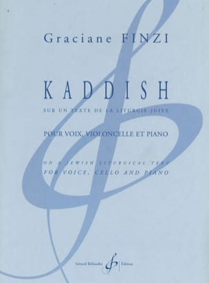 Kaddish Graciane Finzi Partition Violoncelle - laflutedepan