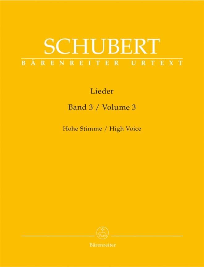 Lieder Volume 3. Voix Haute - SCHUBERT - Partition - laflutedepan.com