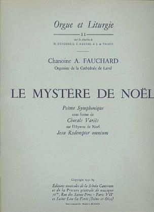 Le Mystère de Noël Auguste Fauchard Partition Orgue - laflutedepan