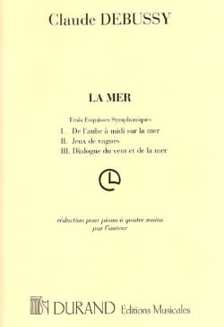 La Mer. 4 Mains DEBUSSY Partition Piano - laflutedepan