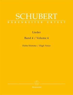Lieder Volume 4. Voix Haute SCHUBERT Partition Mélodies - laflutedepan
