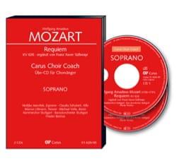 Requiem K 626. 2 CD Ténor CHOEUR MOZART Partition Chœur - laflutedepan