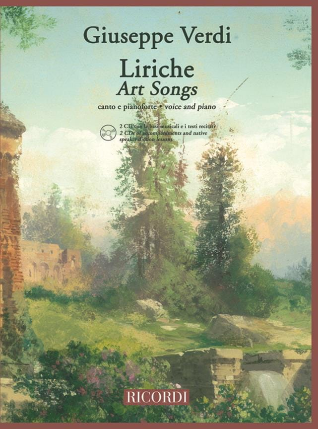 Liriche + 2 Cd - VERDI - Partition - Mélodies - laflutedepan.com