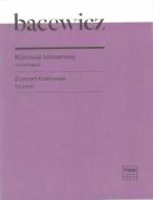 Concert Krakowiak - Grazyna Bacewicz - Partition - laflutedepan.com