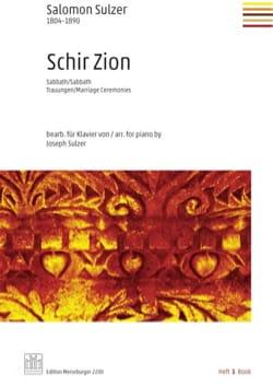 Schir Zion. Volume 1 Salomon Sulzer Partition Piano - laflutedepan