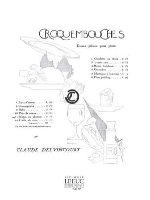Nègre En Chemise Claude Delvincourt Partition Piano - laflutedepan