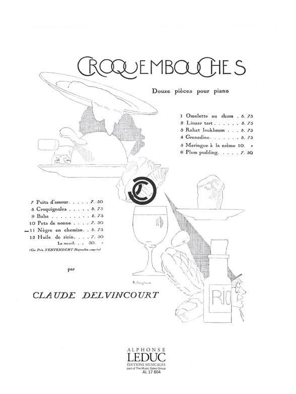 Nègre En Chemise - Claude Delvincourt - Partition - laflutedepan.com