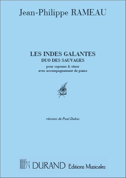 Duo des Sauvages. les Indes Galantes. - RAMEAU - laflutedepan.com