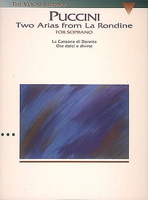 La Rondine : 2 Arias From la Rondine - PUCCINI - laflutedepan.com