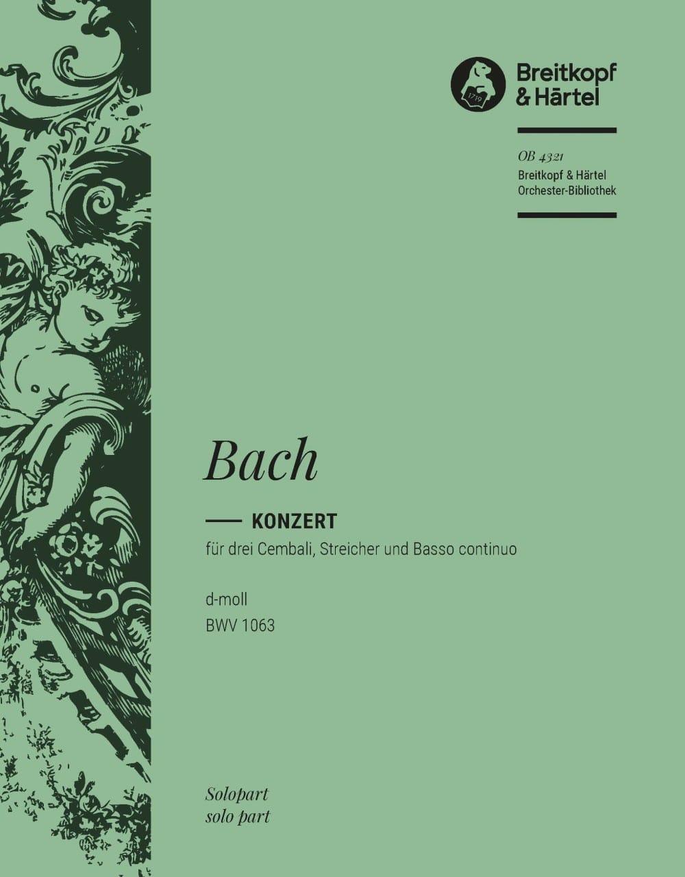 Concerto Pour 3 Claviers BWV 1063 Clavecin 1 - BACH - laflutedepan.com