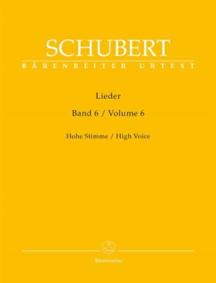 Lieder Volume 6. Voix Haute SCHUBERT Partition Mélodies - laflutedepan