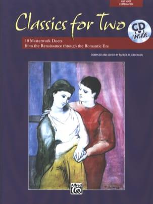 Classics For Two Partition Musique de chambre vocale - laflutedepan