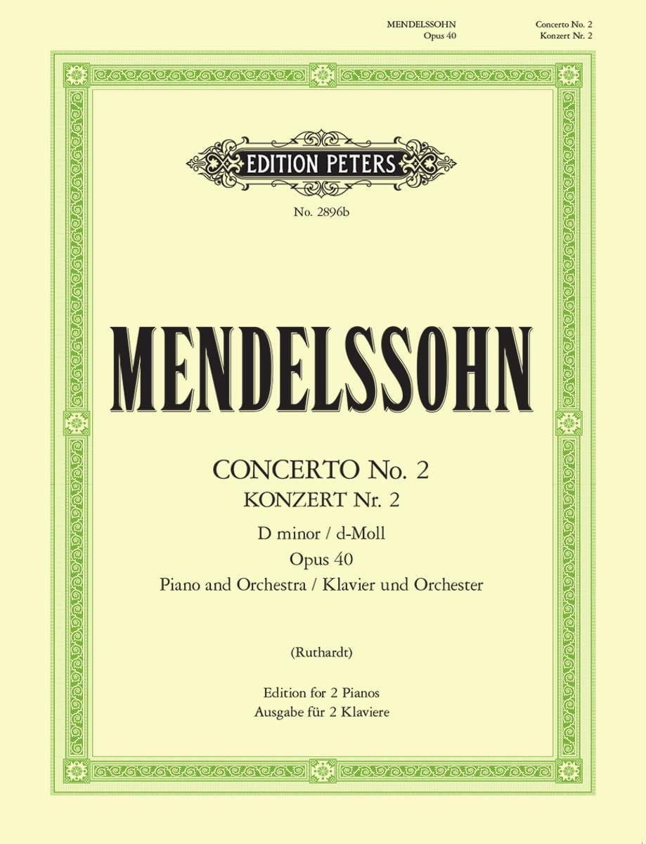 Concerto N°2 En Ré Mineur Opus 40 - MENDELSSOHN - laflutedepan.com
