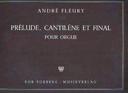 Prélude, Cantilène et final André Fleury Partition laflutedepan