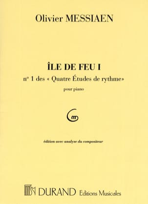 Ile de Feu 1 MESSIAEN Partition Piano - laflutedepan