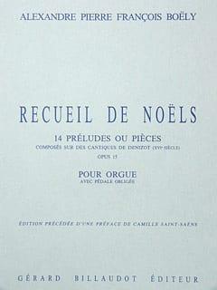 Recueil de Noëls Opus 15 Alexandre Pierre François Boëly laflutedepan