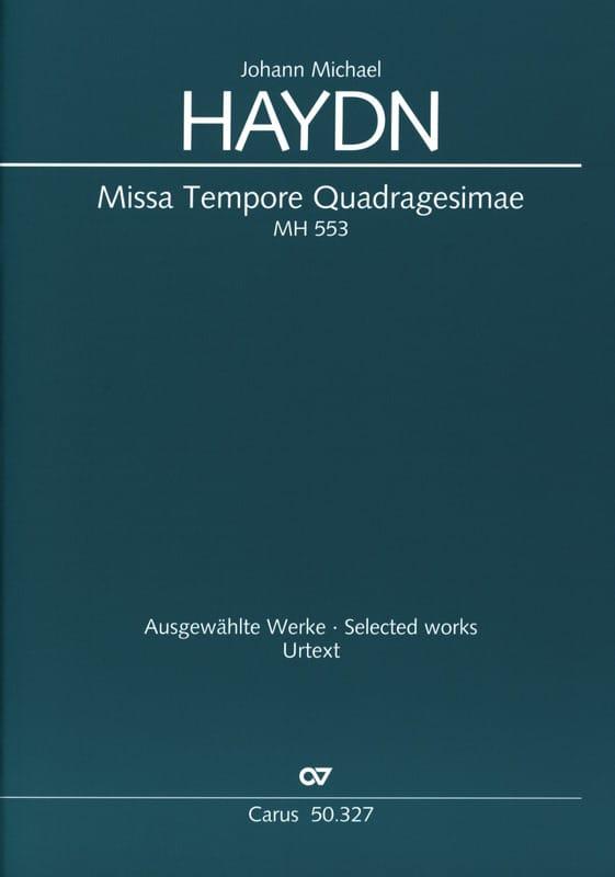 Missa Tempore Quadragesimae MH 553 - Michael HAYDN - laflutedepan.com