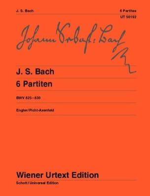 6 Partitas BWV 825-830 BACH Partition Piano - laflutedepan