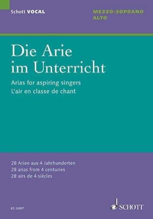Die Arie im Unterricht. Mezzo-soprano - Alto Partition laflutedepan