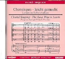 Requiem. CD Soprano FAURÉ Partition Chœur - laflutedepan