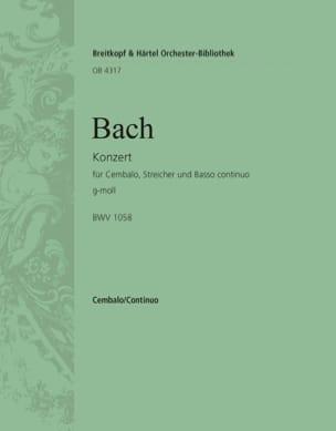 Concerto En Sol Mineur BWV 1058 BACH Partition Piano - laflutedepan