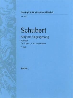 SCHUBERT - Mirjams Siegesgesang - D 942 - Partition - di-arezzo.es