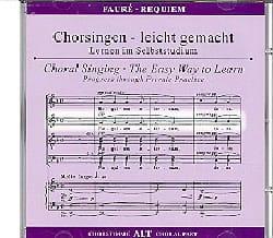 Requiem. CD Alto FAURÉ Partition Chœur - laflutedepan