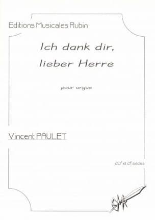 Ich dank dir, lieber Herre Vincent Paulet Partition laflutedepan