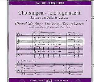 Requiem. CD Alto - FAURÉ - Partition - Chœur - laflutedepan.com